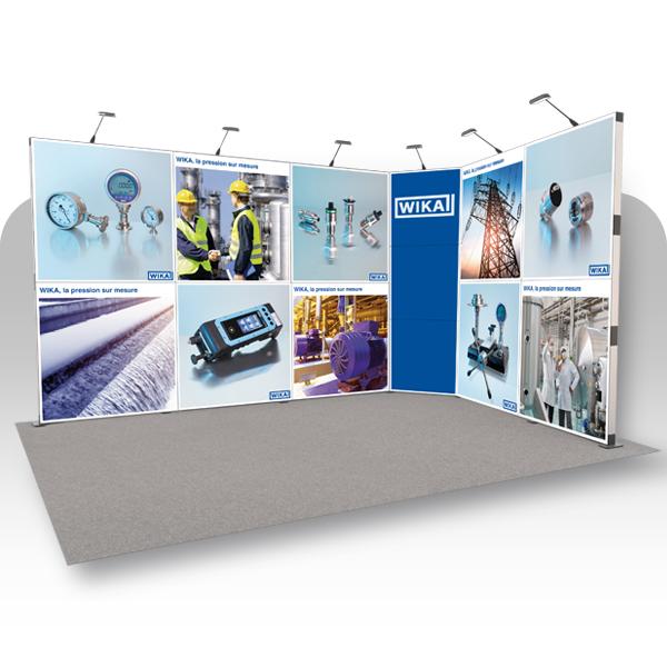 image du produit : Stand Flextile 12m² - 13 cadres