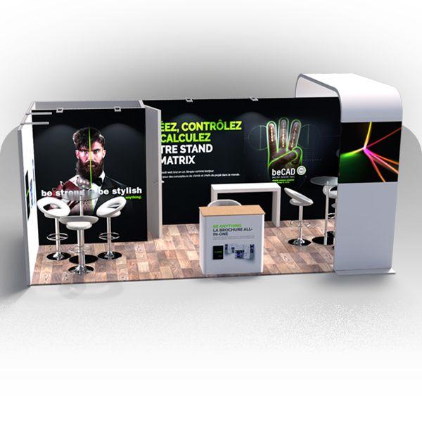 image du produit : Stand BeMatrix 18m² (2 côtés)