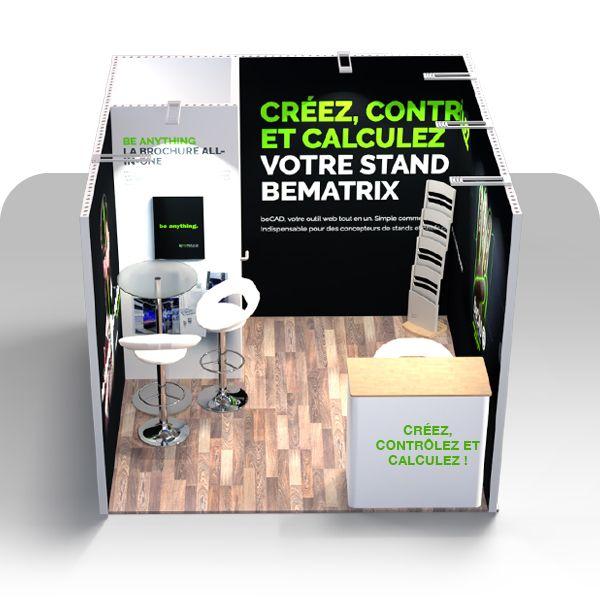 image de l'accessoire Stand BeMatrix 9m² (3 côtés)