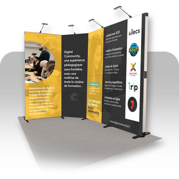 image du produit : Stand Flextile 6m² - 9 cadres
